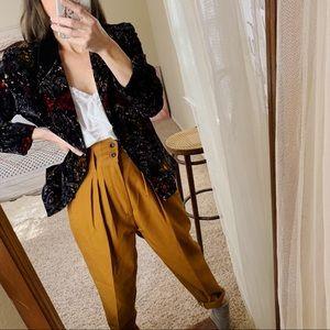 Jackets & Blazers - Vintage crushed velvet floral blazer made in Italy